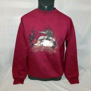 VTG 90s Northern Reflections Loon Sweatshirt M